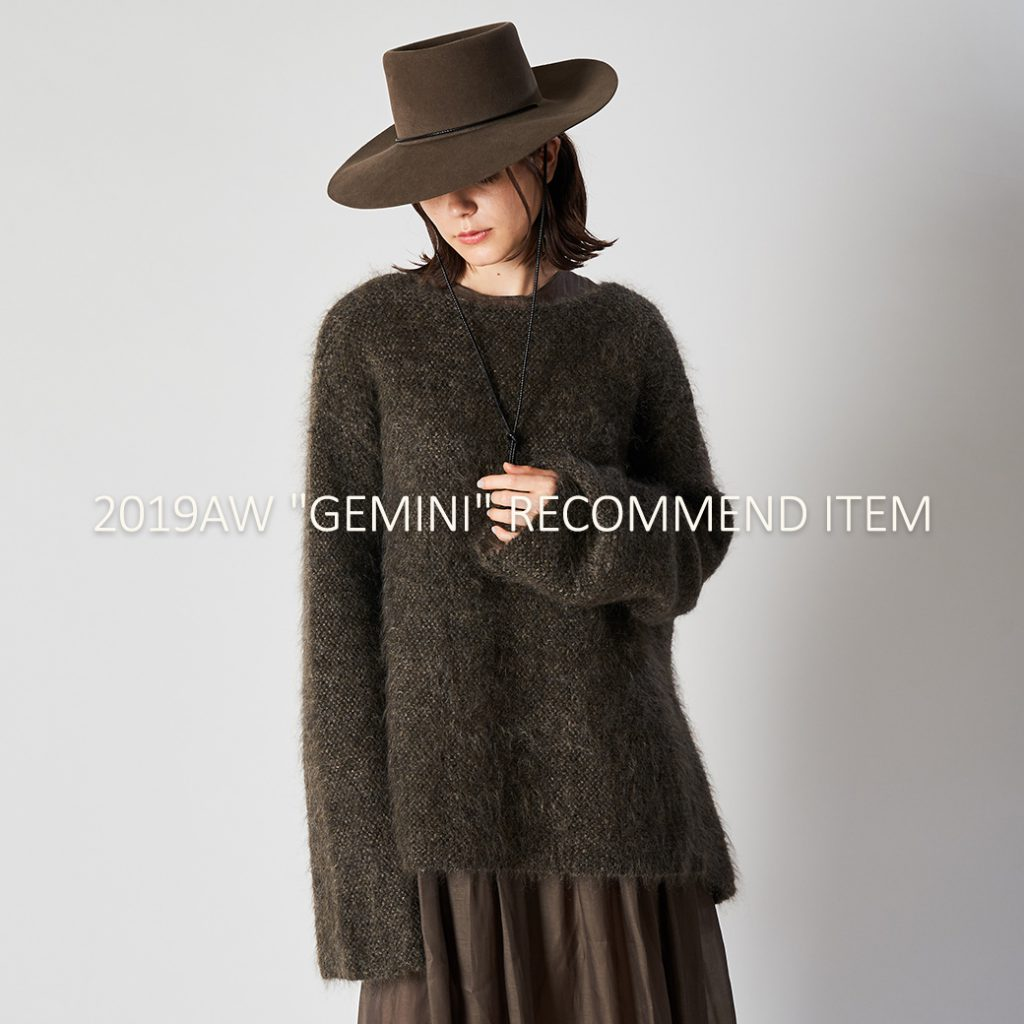 "Whim Gazette(ウィム ガゼット)2019AW ""GEMINI"" RECOMMEND ITEM"