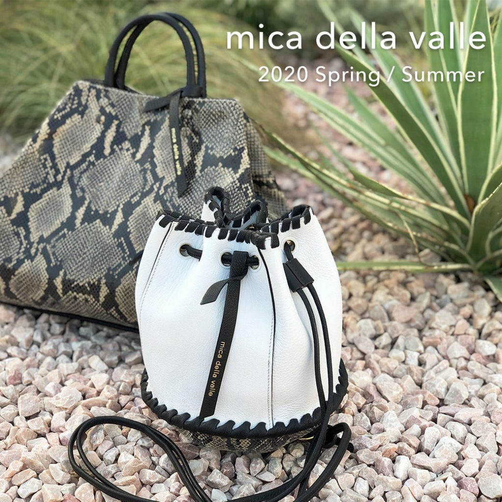 Whim Gazette(ウィム ガゼット)_2020SS NEW BAG 『mica della valle(ミカ デラ ヴァッレ)』PRE ORDER